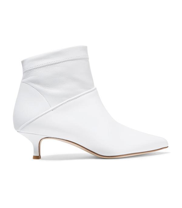 Tibi Jean Leather Sock Boots