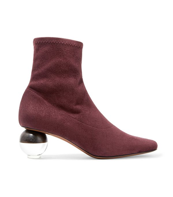 Neous Sphere Stretch-Suede Sock Boots