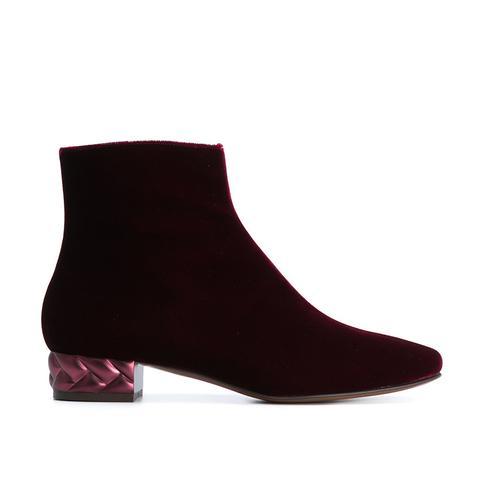 Textured Heel Ankle Boot