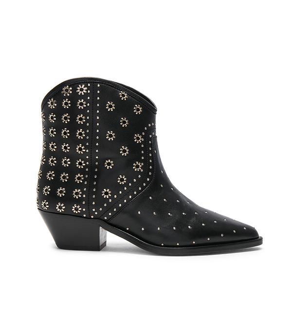 Isabel Marant Domya Studded Leather Ankle Boots