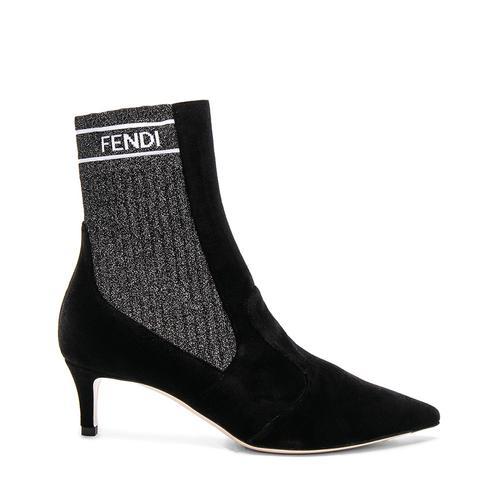 Rockoko Velvet Ankle Boots