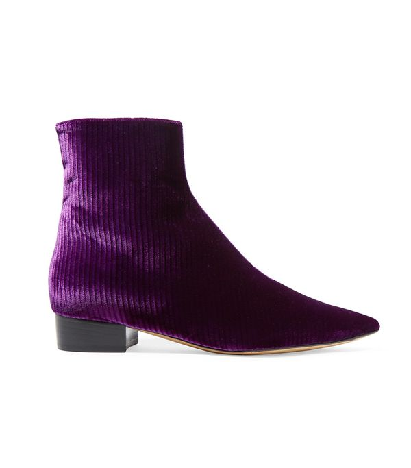 Ellery Corduroy Ankle Boots