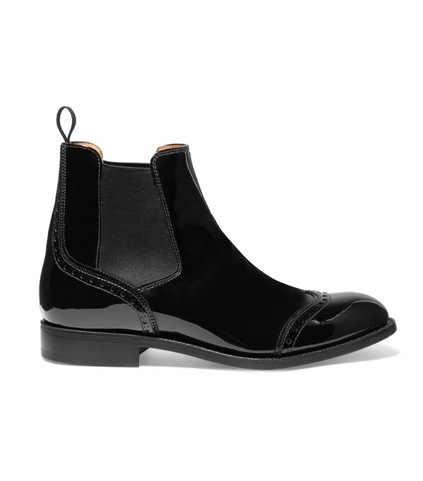 Church's Simone Patent-Leather Chelsea Boots