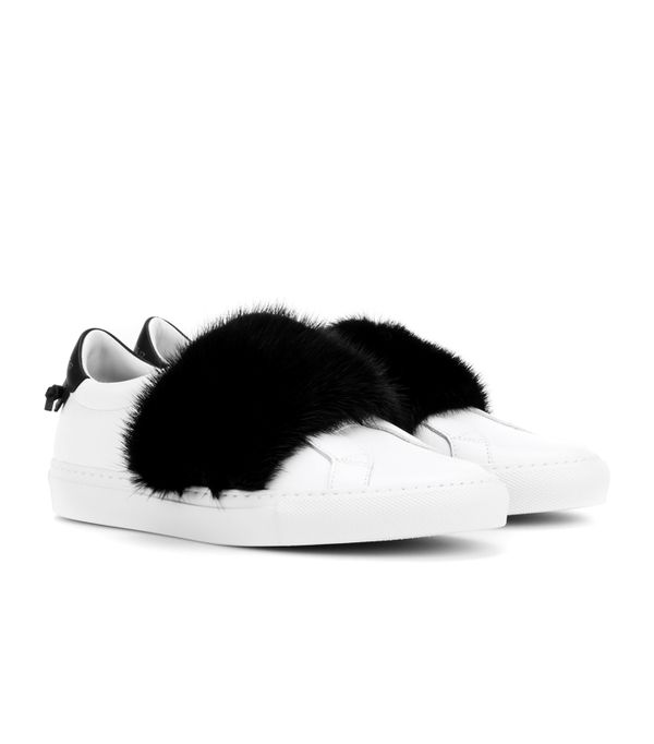mytheresa.com sneakers: Givenchy Urban Street Leather Sneakers