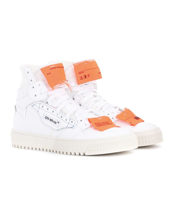 mytheresa.com sneakers: Off White Leather Sneakers