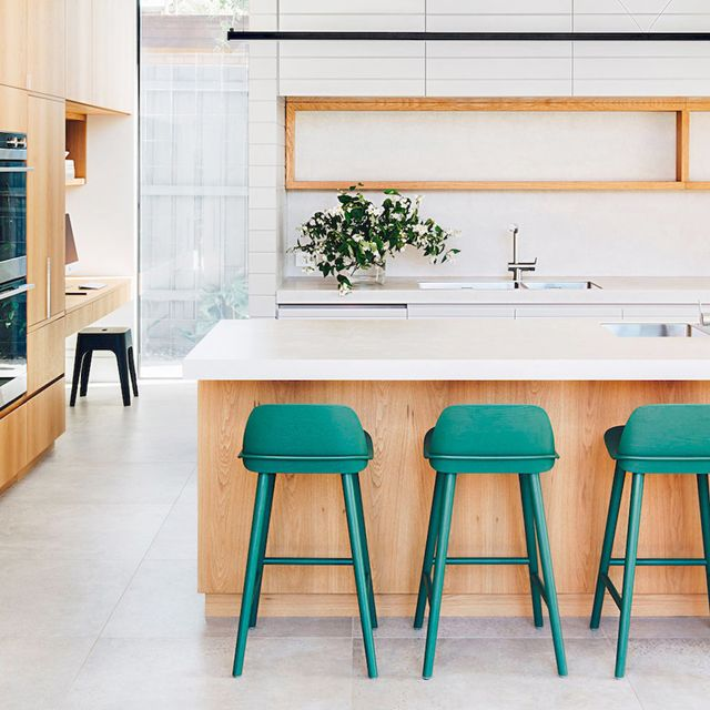 Move Aside, White Kitchens—These Colorful Trends Are Making a Comeback in 2018