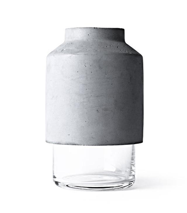 Menu Concrete & Glass Vase