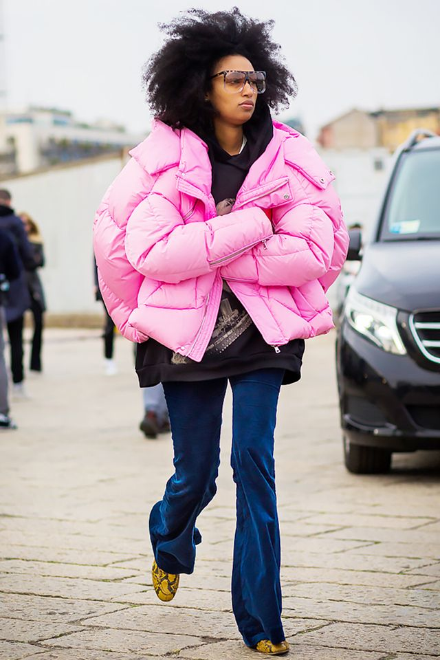 Julia Sarr Jamois in Pink Coat