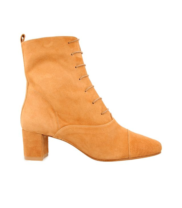 By Far Lada Suede Boots in Nude