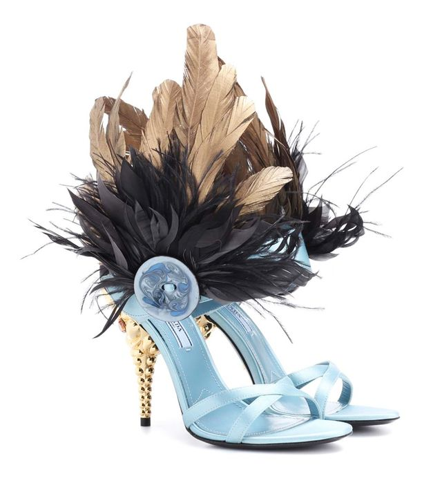 Resort trends 2018: Prada feather-trimmed sandals