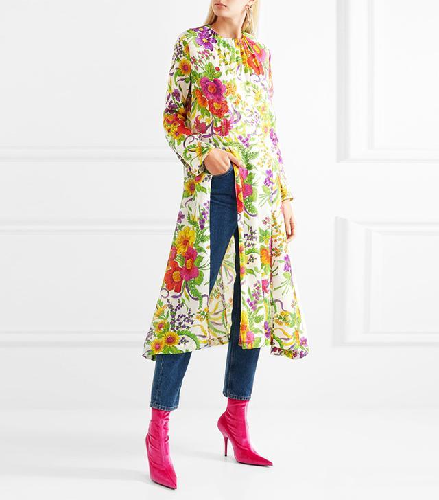 Resort trends 2018: Balenciaga floral dress
