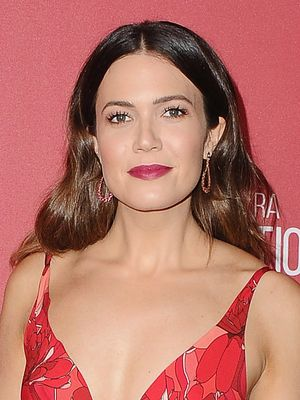 Mandy Moore Is the Dancing Lady Emoji in This Striking Red Carpet Dress