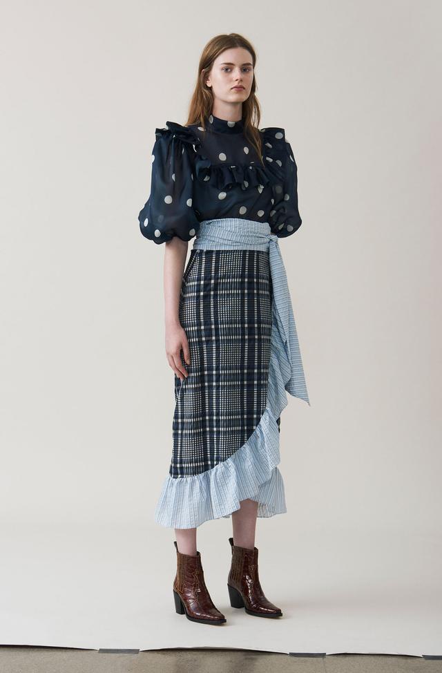 Ganni Charron Wrap Skirt