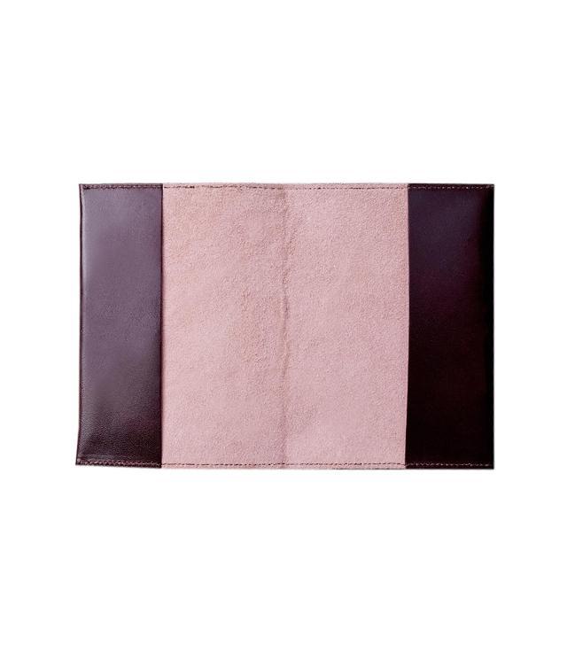 Simone Le Blanc Bordeaux/Blush Leather Passport Cover
