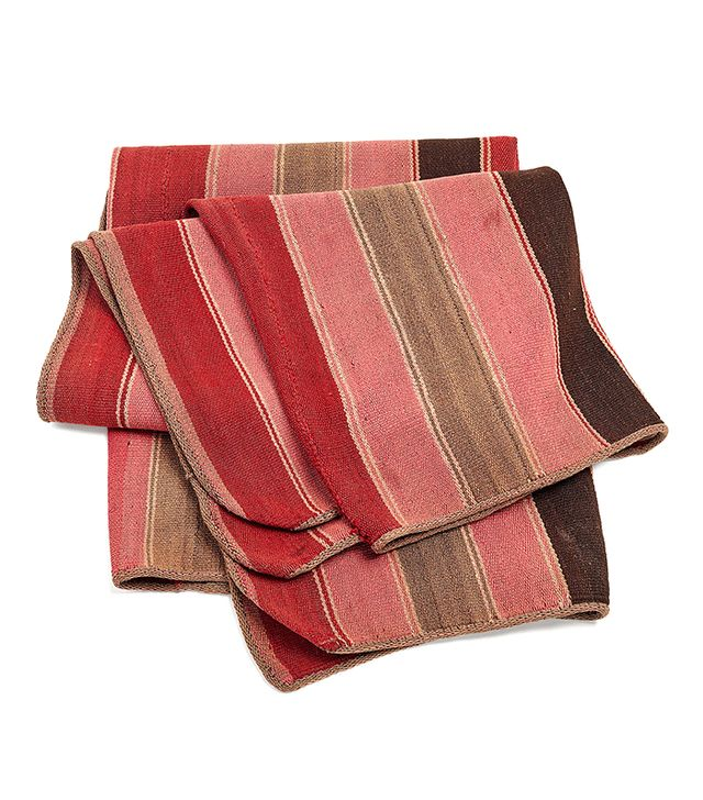 Andes Textile Pink, Beige, and Red Frazada