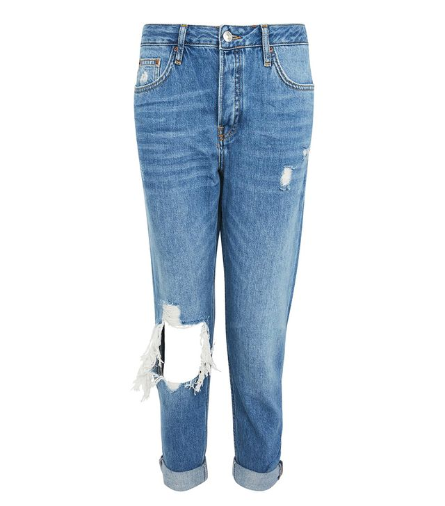 MOTO Busted Knee Blue Hayden Jeans