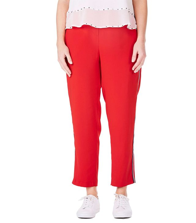 Plus Size Women's Elvi Side Stripe Ankle Pants