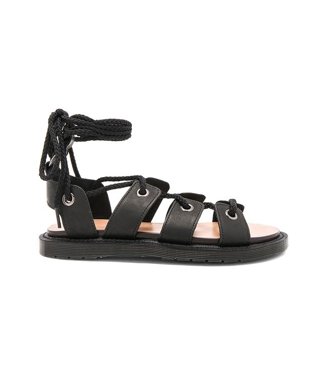 Jasmine Ghillie Sandal in Black. - size 9 (also in 10)