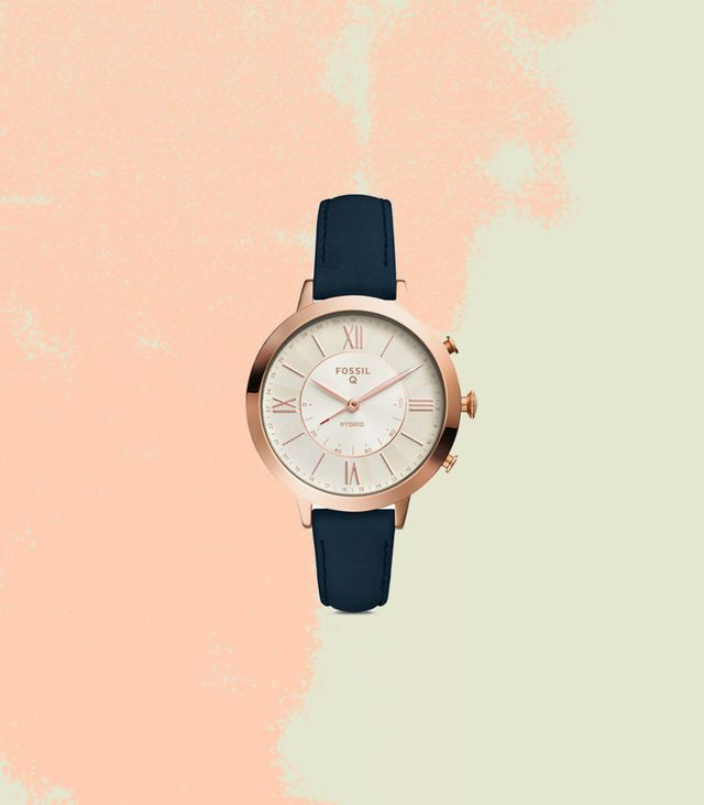 Fossil Q Jacqueline Hybrid Smartwatch in Navy Leather