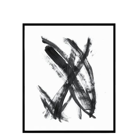 Wood Art Black and White Abstract Wall Print