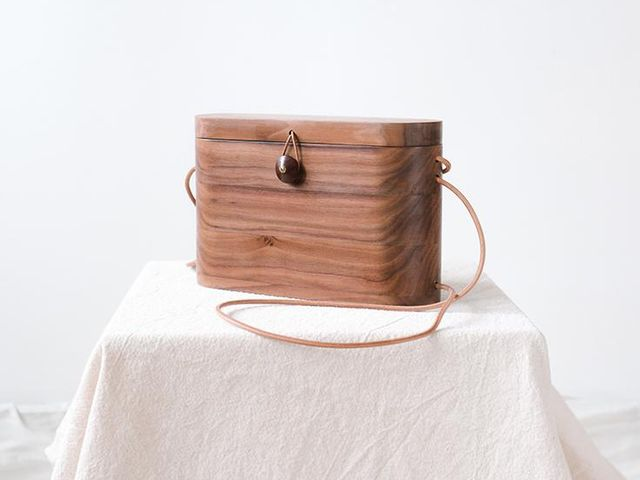 Grav Grav Walnut Wood Backpack & Cross-Body Bag