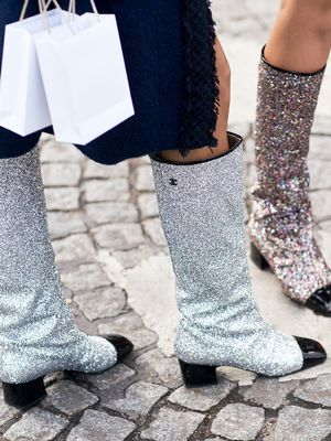 How to Wear the Glitter Shoes You've Been Seeing Everywhere