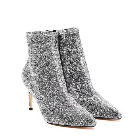 You Rock My World Glitter Bootie
