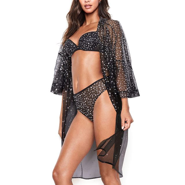 Victoria's Secret Embroidered Stars Kimono
