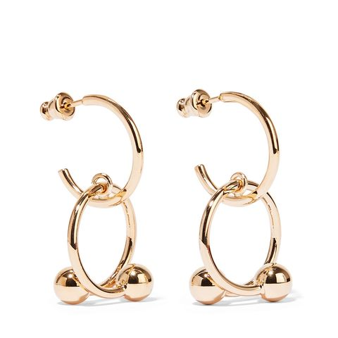 Pierce Gold-Plated Hoop Earrings