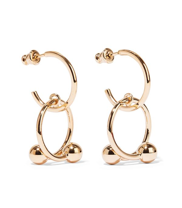 J.W.Anderson Pierce Gold-Plated Hoop Earrings