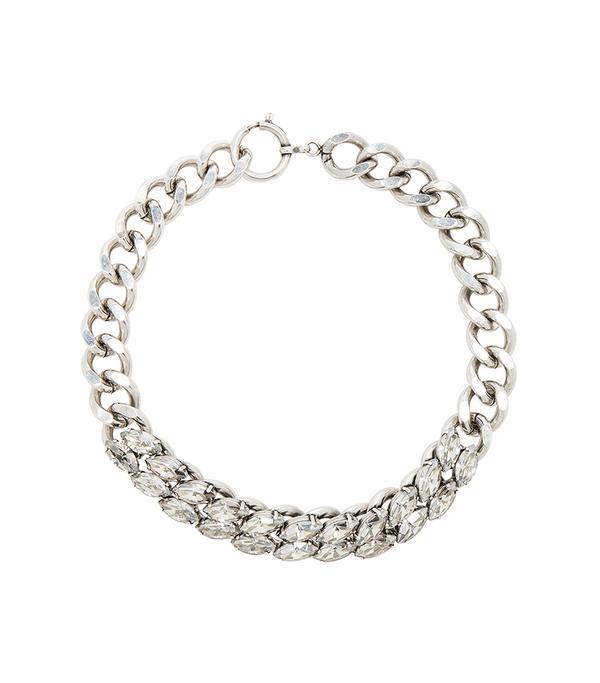 Isabel Marant Crystal Embellished Chain Choker