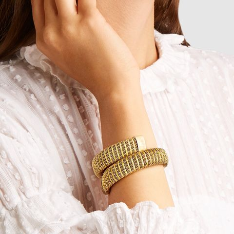 Caro Gold-Plated and Lurex Bracelet