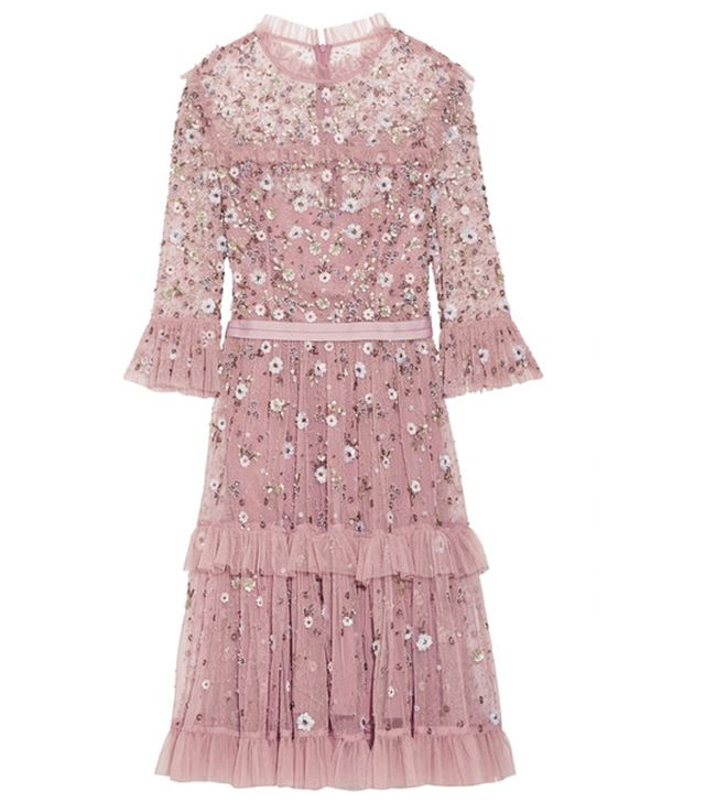 Needle and Thread Twilight Tiered Embellished Tulle Dress