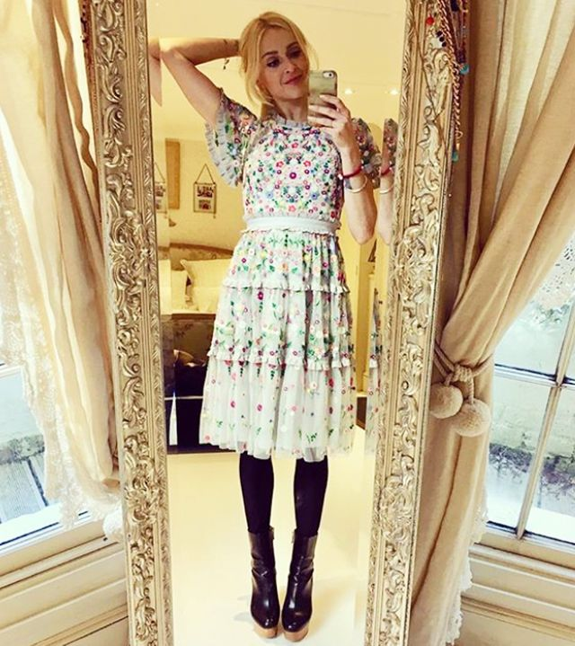 Fearne Cotton wearing Needle and Thread