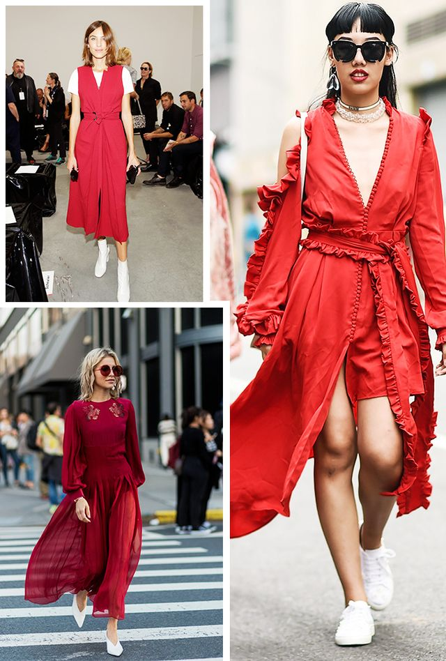 What to wear with a red dress