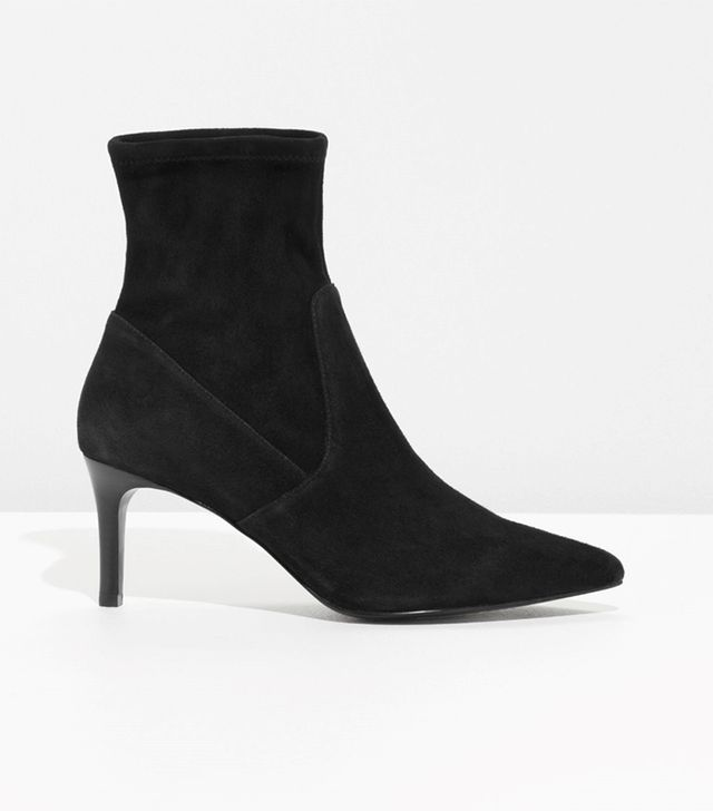 & Other Stories Stretch Suede Ankle Boots