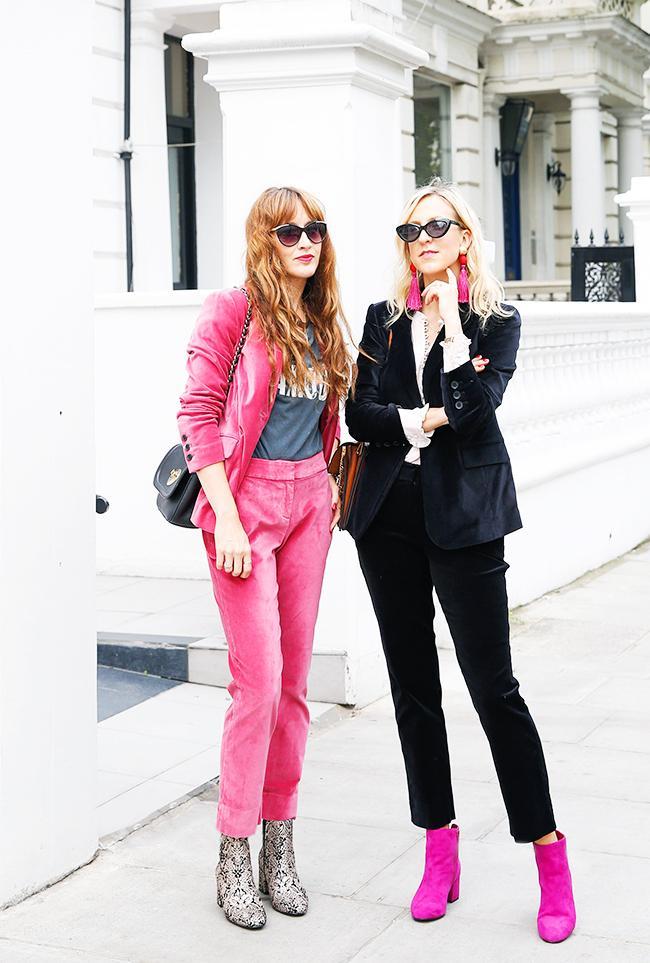 Boden pink suit: