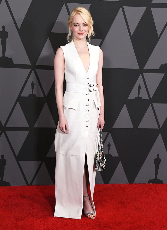 On Emma Stone:Louis Vuitton S/S 18 dress