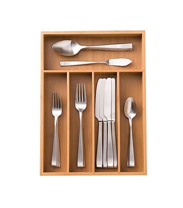 Bed Bath & Beyond Bamboo Cutlery Tray