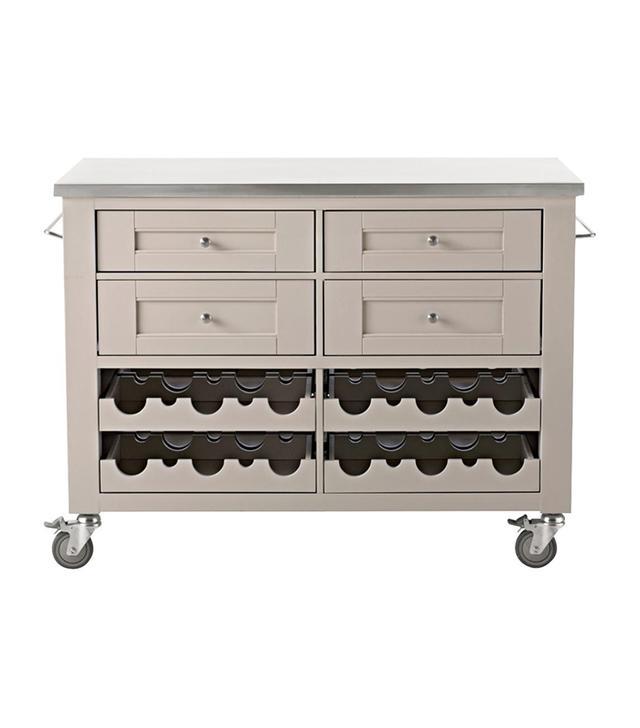 Martha Stewart Living Corwin Sharkey Gray Kitchen Cart
