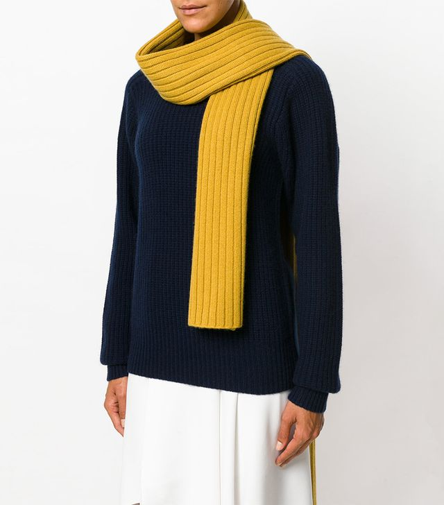 Joseph Ribbed Knit Scarf