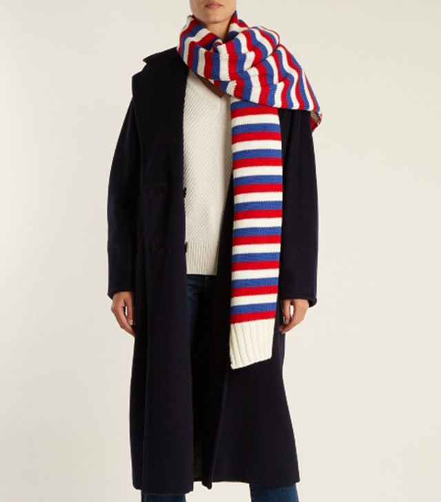 Sonia Rykiel Striped Wool-Knit Scarf