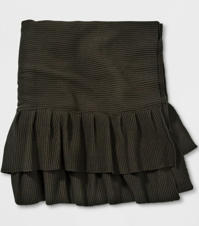 Who What Wear Frill Scarf in Dark Green