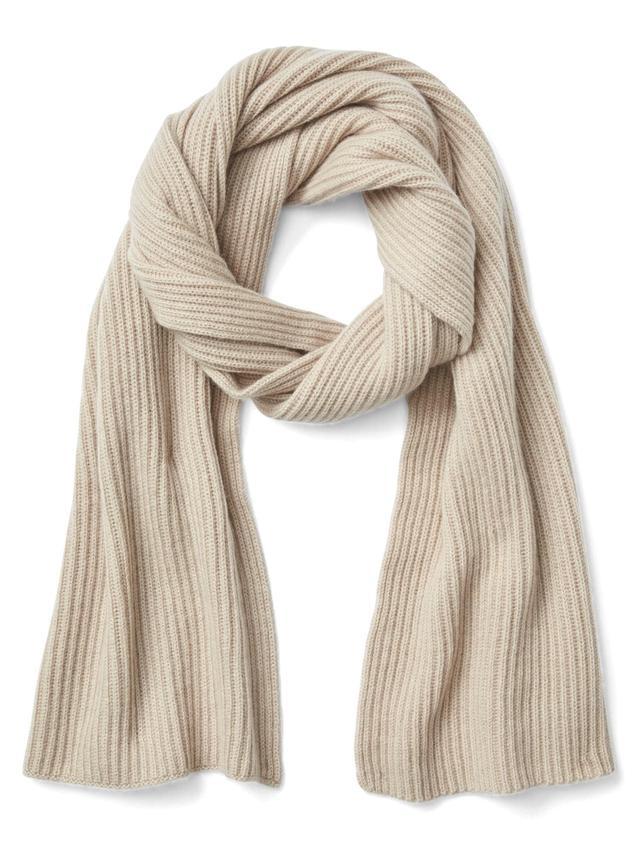 Gap Cashmere Rib-Knit Scarf