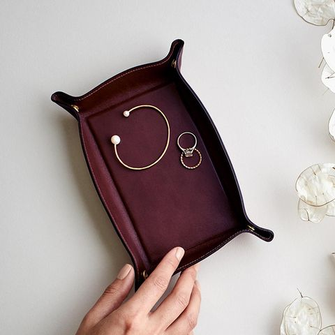 Bordeaux Leather Catchall