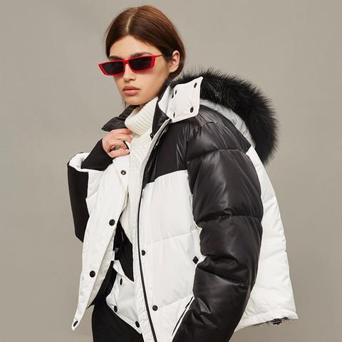 Monochrome Ski Puffer Jacket