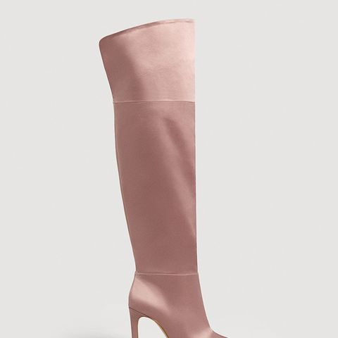 Satined Over-the-Knee Boots