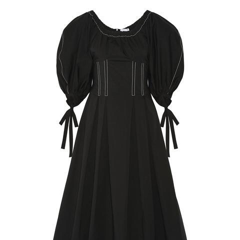 Greta Pleated Stretch-Cotton Poplin Dress