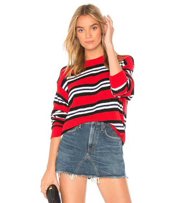 x REVOLVE Robbins Sweater in Red. - size L (also in S,XS)