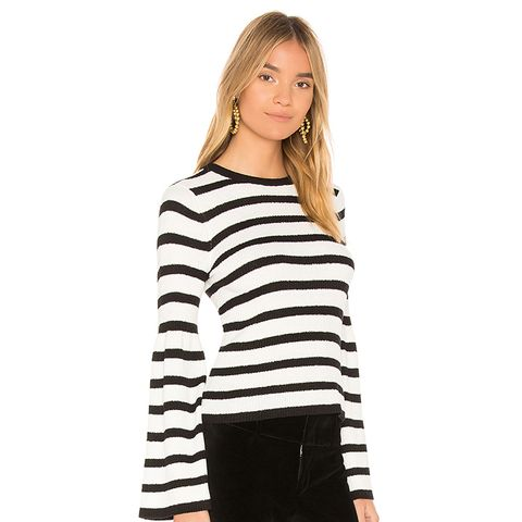Striped Bell Sleeve Sweater